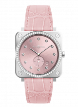 Bell & Ross BR S Novarosa Full Diamonds BRS-PK-ST-LGD/SCR — фото превью