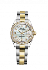 Lady-Datejust 28 Steel Yellow gold and Diamonds