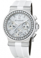 White Mother-of-Pearl Diamond Dial Chronograph