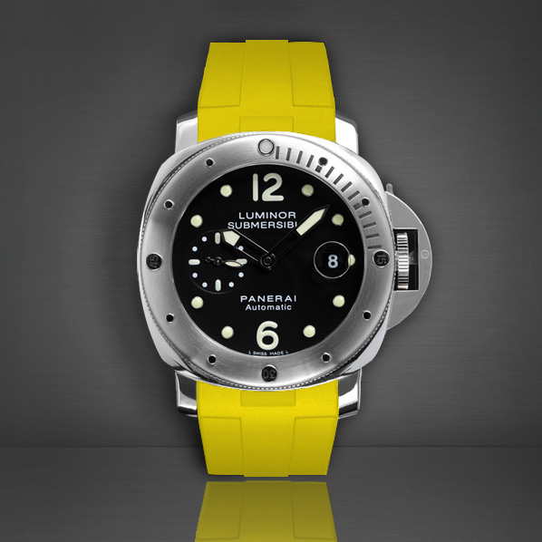 Rubber B  Luminor Submersible 44 Canary Yellow P210S-CY