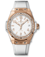 One Click King Gold White Diamonds 39 mm