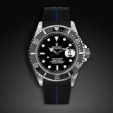 Rolex Submariner Non-Ceramic Classic Series VulChromatic Jet Black Pacific Blue M103-BK/VCBL-SNC