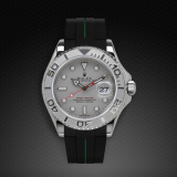 Yachtmaster 40 Tang Buckle Series VulChromatic Jet Black Forest Green