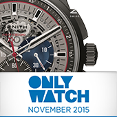 Модель Zenith на аукционе Only Watch