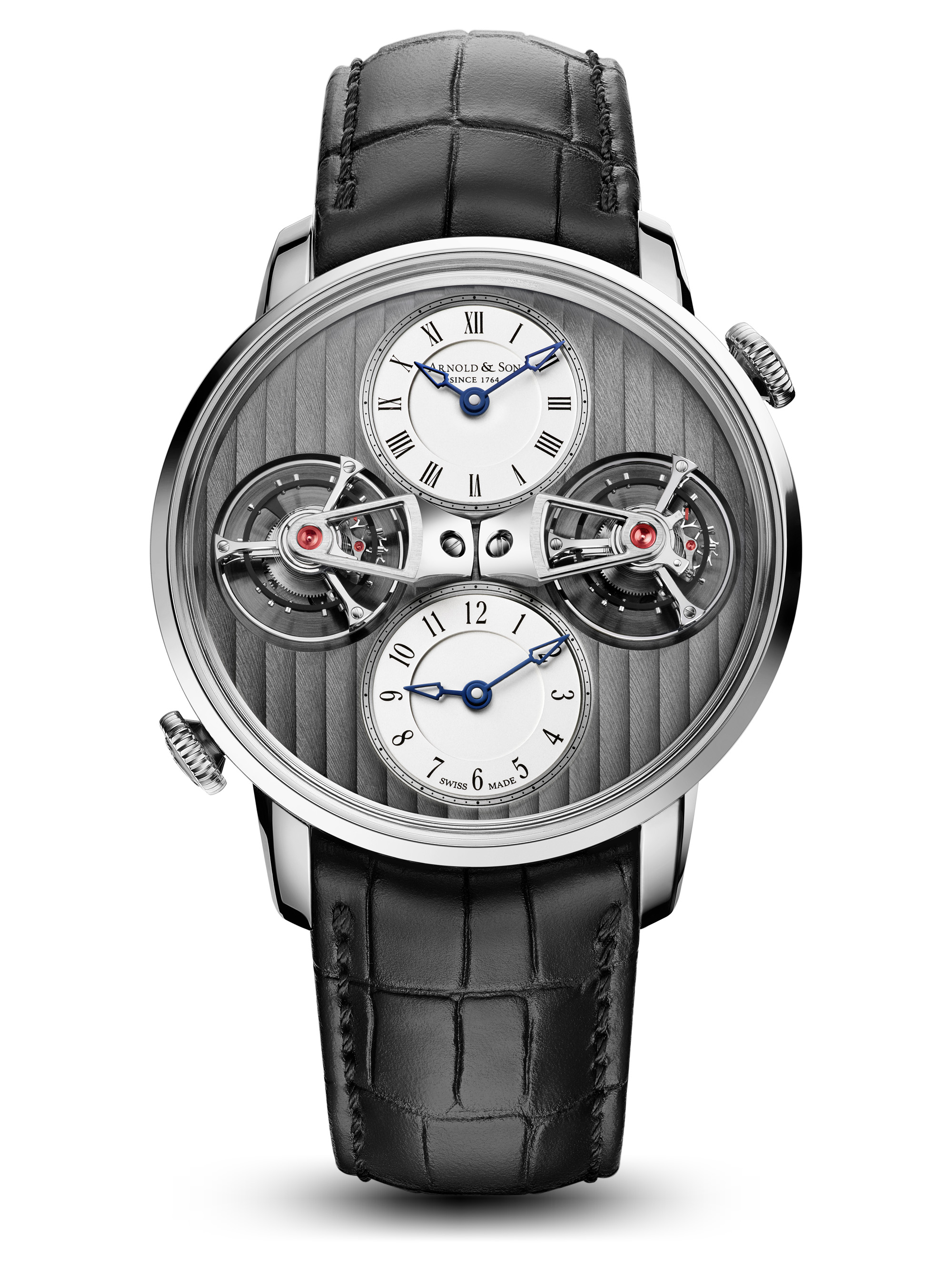 Arnold & Son Double Tourbillon Escapement Dual Time  1DTAW.S01A.C121W