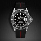 Submariner Non-Ceramic Classic Series VulChromatic Jet Black Red Devil