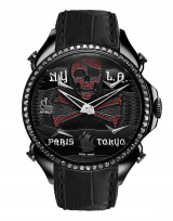 PALATIAL FIVE TIME ZONE PIRATE BLACK PVD