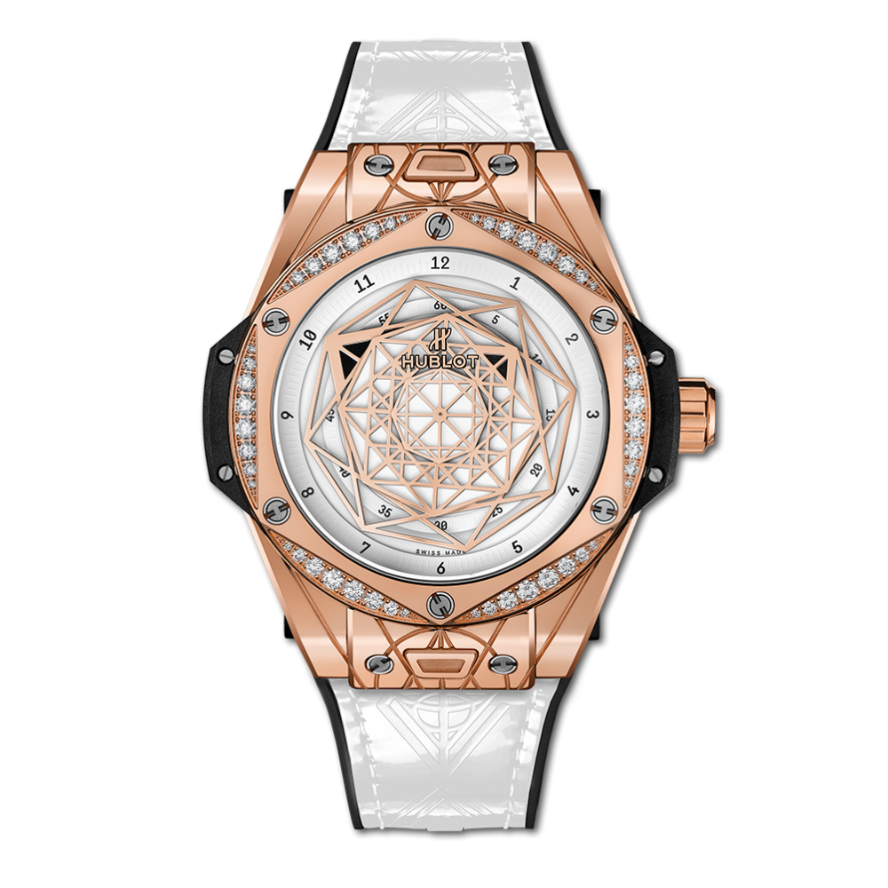 Hublot One Click Sang Bleu King Gold White Diamonds 465.OS.2028.VR.1204.MXM19