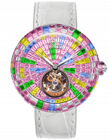 Brilliant Flying Tourbillon Multicolor Pink