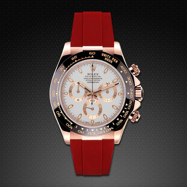 Rubber B  Daytona on Strap RG Classic Series Red Devil M101-RD-RG