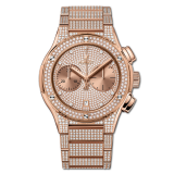 Chronograph King Gold Full Pave Bracelet