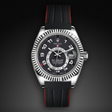 Rolex SkyDweller on Strap Jet Black VulChromatic Red Devil M110-BK/VCRD