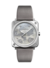 Bell & Ross BR S GREY CAMOUFLAGE DIAMONDS BRS-CAMO-ST-LGD