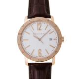 White Dial 18K Pink Gold Men's Watch