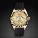 Rolex SkyDweller on Strap Jet Black VulChromatic Satin Black M110-BK/VCSBK