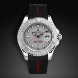 Yachtmaster 40 Tang Buckle Series VulChromatic Jet Black Red Devil