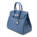 Birkin 25 Blue Agate Swift PHW