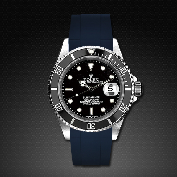 Rubber B  Submariner Non-Ceramic Classic Series Navy Blue M103-NV-SNC