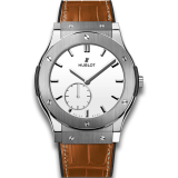 Hublot Ultra-Thin Titanium White Shiny Dial 45 mm 515.NX.2210.LR — фото превью