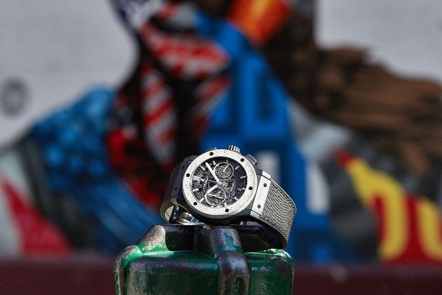 Hublot Classic Fusion Aerofusion Chronograph Concrete Jungle with Tristan Eaton