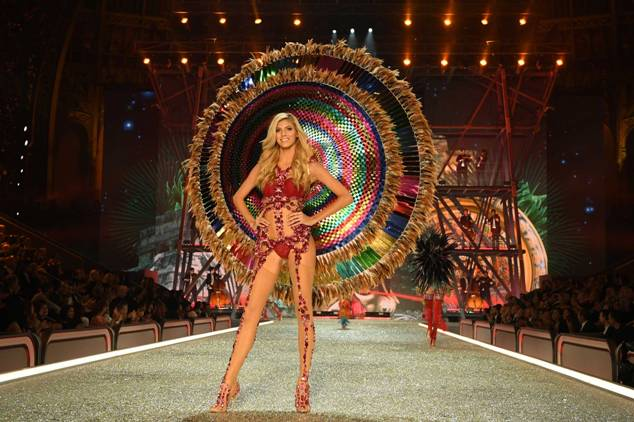 Devon Windsor walks the runway during the 2016 Victoria's Secret Fashion Show