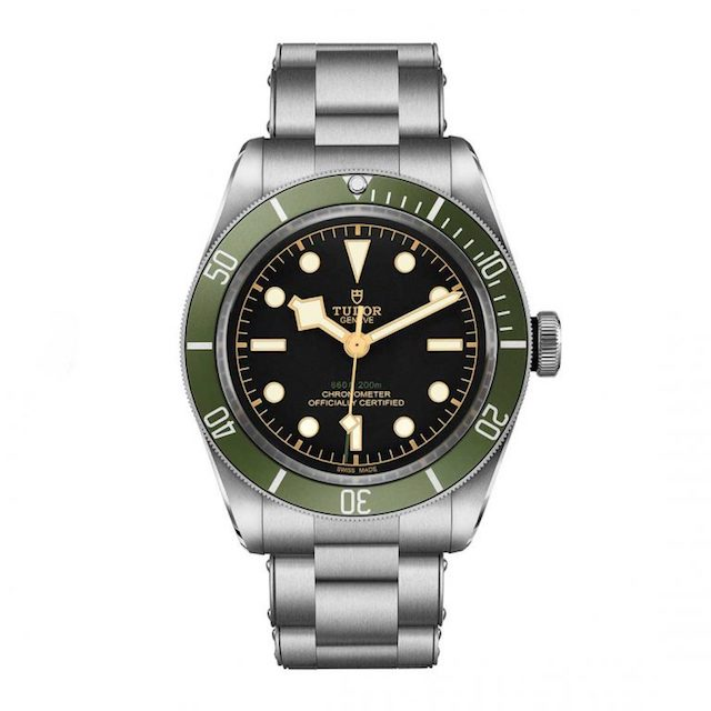 "Tudor Black Bay ""Green"" Exclusive to Harrods steel bracelet"