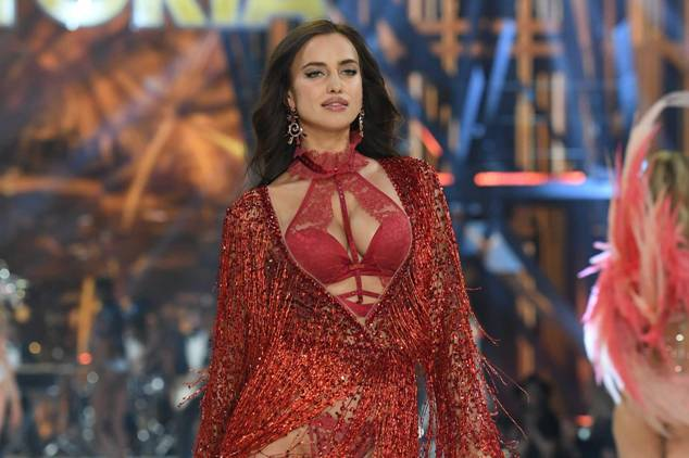 Irina Shayk walks the runway during the 2016 Victoria's Secret Fashion Show
