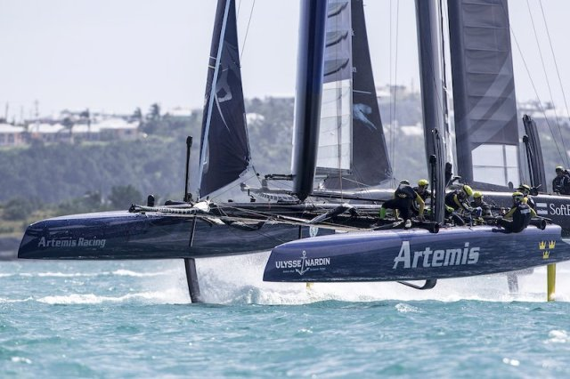 Artemis Racing in action during last years America's Cup