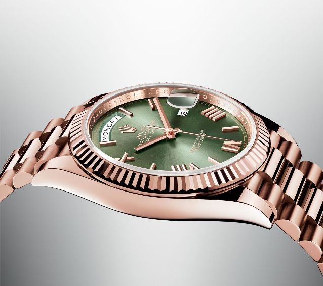 Rolex Oyster Perpetual Day Date in Everose Gold