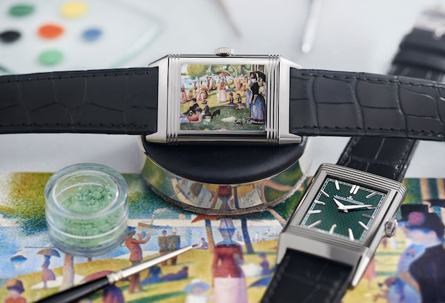 Reverso Tribute Enamel Georges Seurat «Sunday Afternoon on the Island of La Grande Jatte»