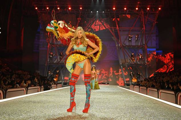 Elsa Hosk walks the runway at the Victoria's Secret Fashion Show
