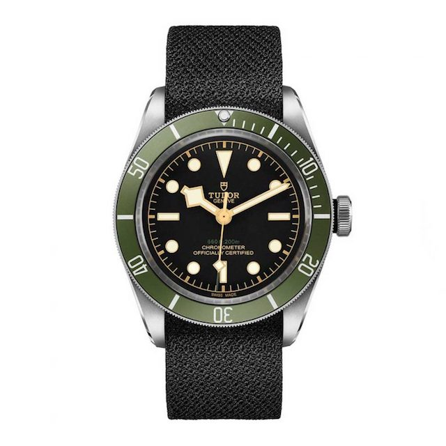 "Tudor Black Bay ""Green"" Exclusive to Harrods fiber strap"