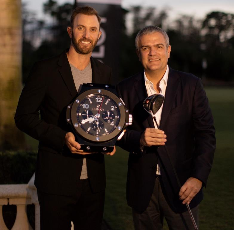 Hublot new Ambassador Dustin Johnson with Ricardo Guadalupe