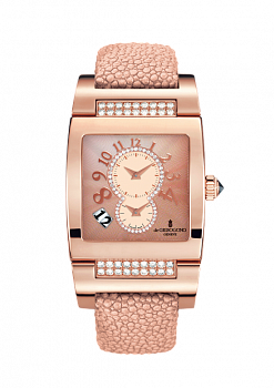 Women Pink gold with Diamonds