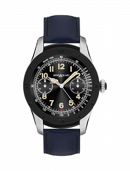 Summit Smartwatch of Two-Tone Steel and Leather Strap