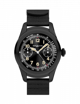 Summit Smartwatch of Black Steel and Rubber Strap